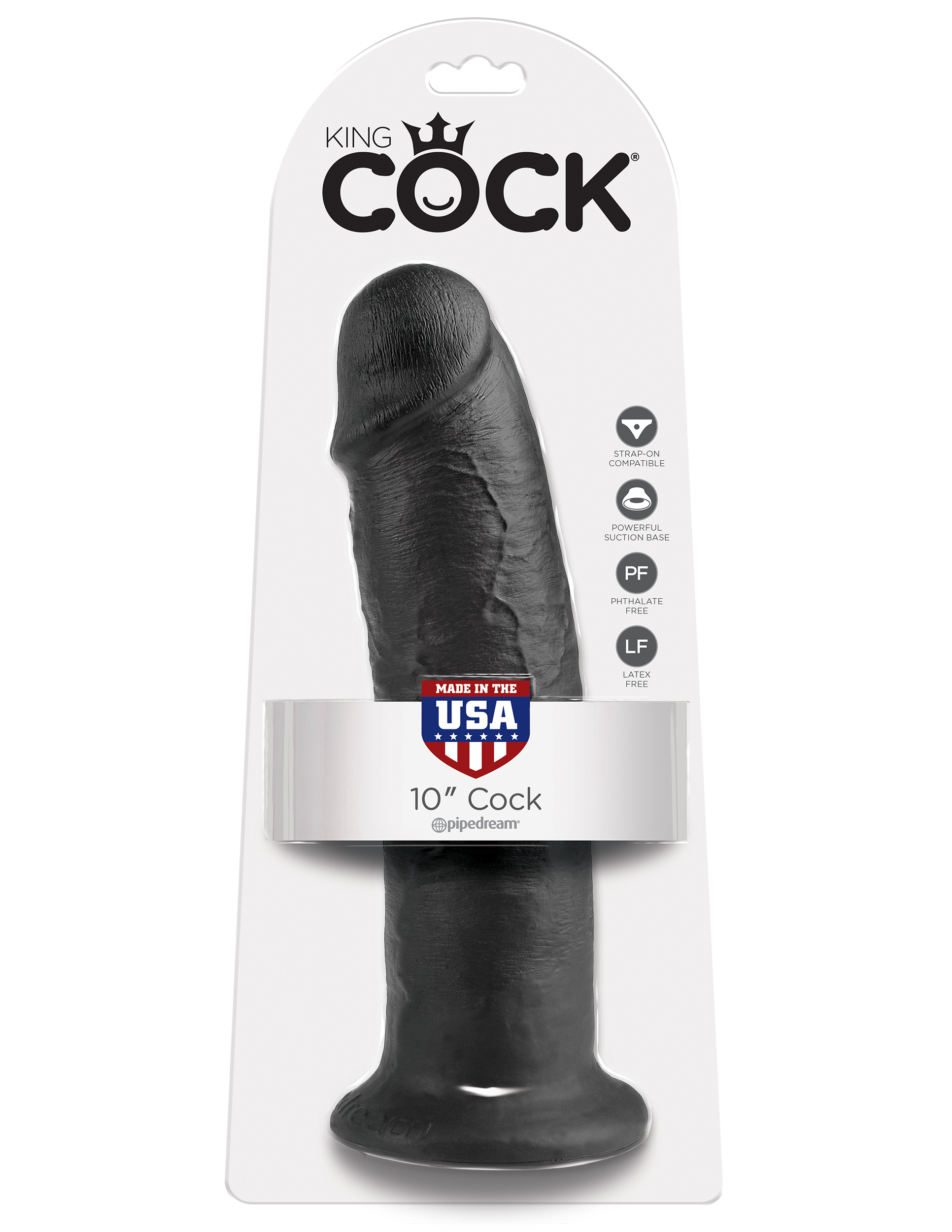 """King Cock 10"""" Realistic Suction Cup Dildo"""
