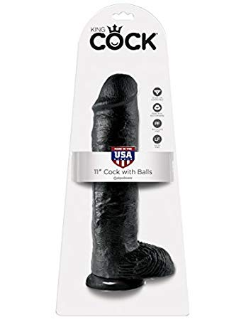 """King Cock 11"""" With Balls Realistic Suction Cup Dildo"""