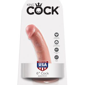 "King Cock 6"" Realistic Suction Cup Dildo"