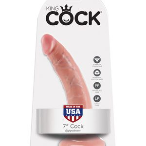 "King Cock 7"" Realistic Suction Cup Dildo"