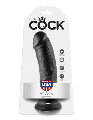 "King Cock 8"" Realistic Suction Cup Dildo"