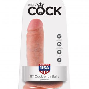 "King Cock 8"" with Balls Realistic Suction Cup Dildo"